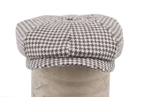 Creme-brown driver's cap with ear flaps Marling & Evans