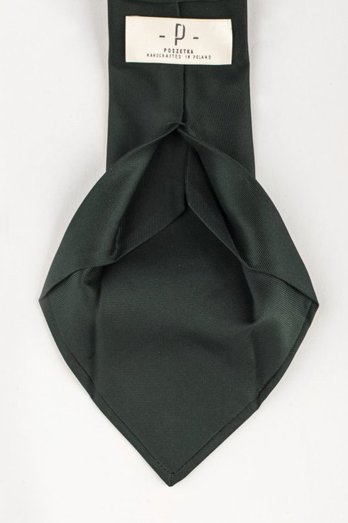 DARK GREEN SIX FOLD MACCLESFIELD TIE