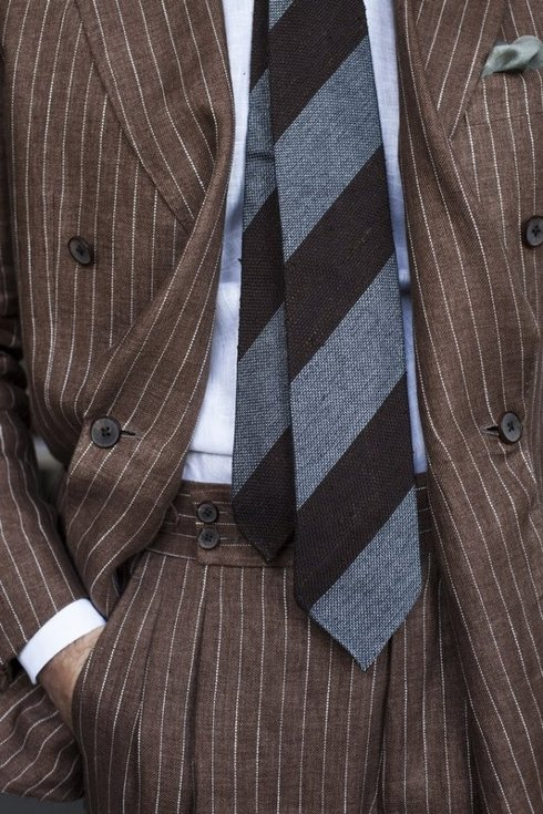 """DOUBLE BREASTED SUIT """"POSITANO"""""""