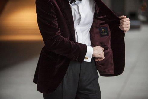 Dinner jacket 'Luciano' velvet from Holland & Sherry