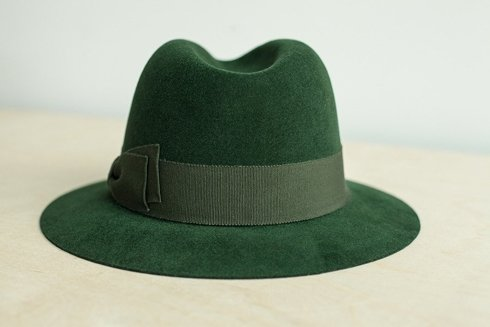 Fedora hat racing green
