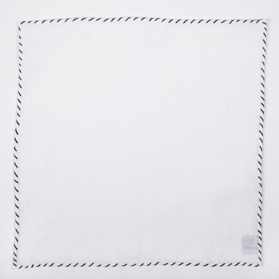 LINEN POCKET SQUARE - ONE thread-color