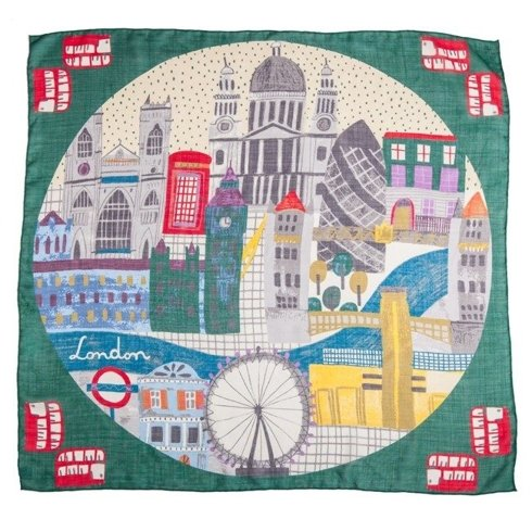 """LONDON"" Wool and Silk scarf 100 cm"