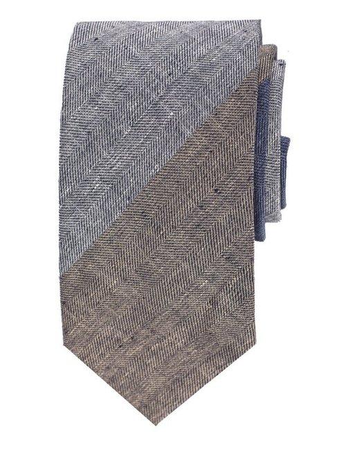 Linen self-tipped tie