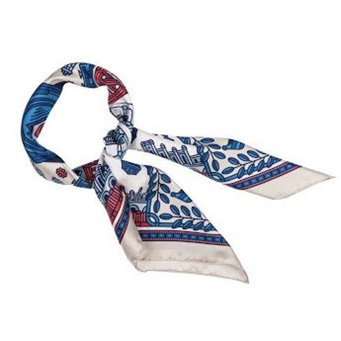 """Łódź"" Silk scarf 100 cm Jan Kallwejt"