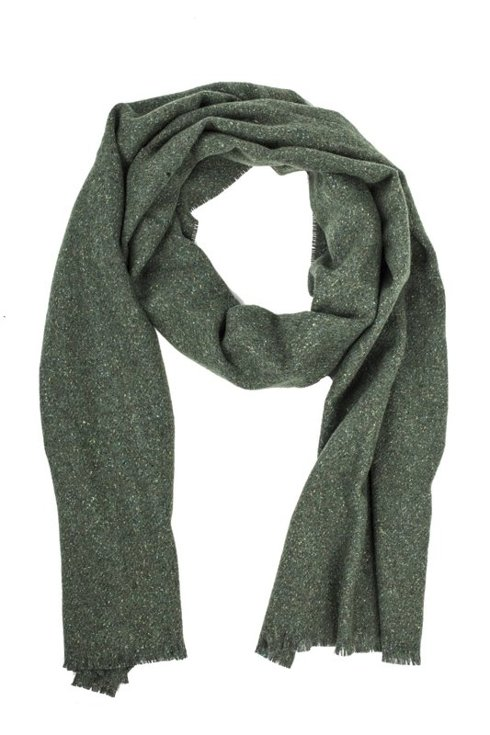 OLIVE GREEN DONEGAL SCARF