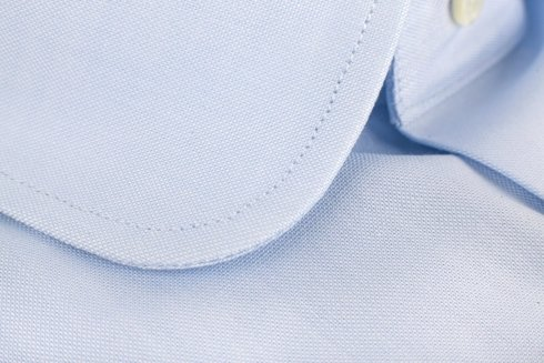 Oxford sky blue shirt with round collar