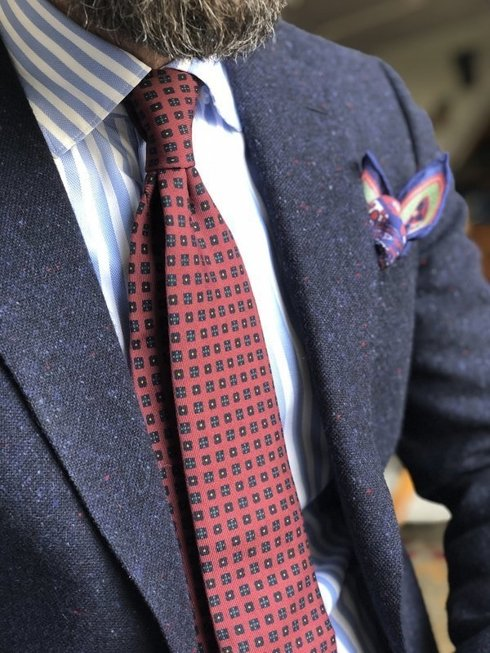 "POCKET SQUARE ""BARCELONA"" JAN KALLWEJT"
