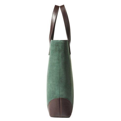 PREORDER: suede Tote Bag Sartolane (green)