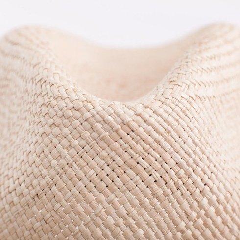 Panama hat natural with brown rep