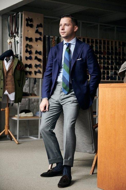 Preorder: sharkskin grey trousers