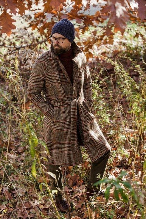 Prince of Wales raglan coat 'Rudolf'