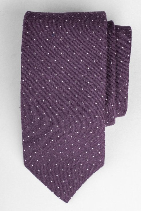 Purple polka dots burette tie