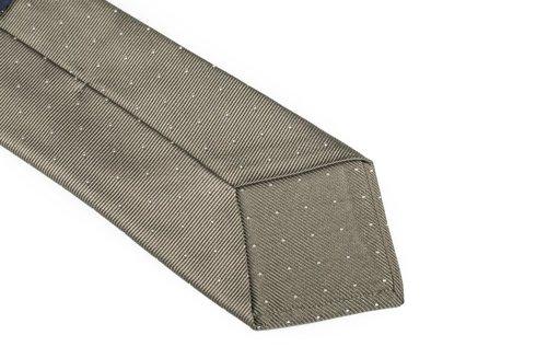 Silk jacquard polka dots tie 9 cm x 148 cm