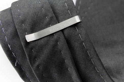 Silver Tie Clip lightning