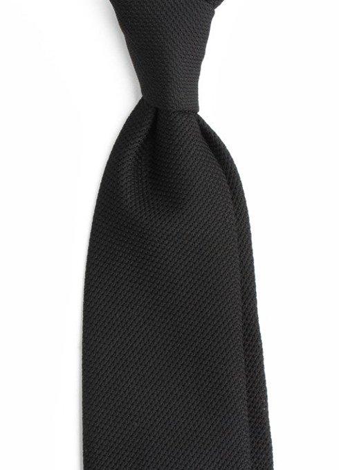 black grenadine tie (garza fina)