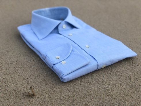 blue light Albini cotton shirt
