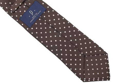 brown Macclesfield tie