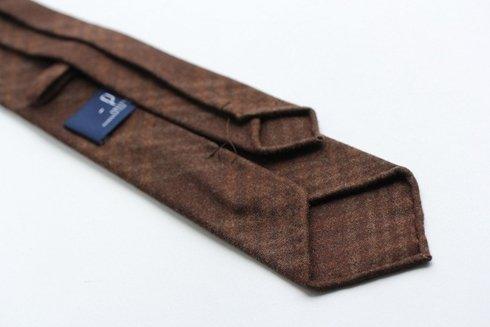 chocolate check cashmere TIE
