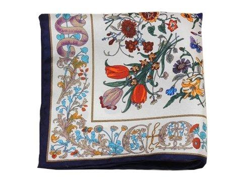 flower silk pocket square
