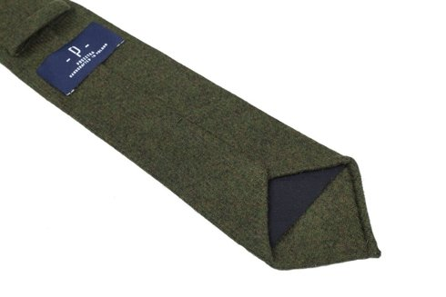 green lambswool UNTIPPED TIE
