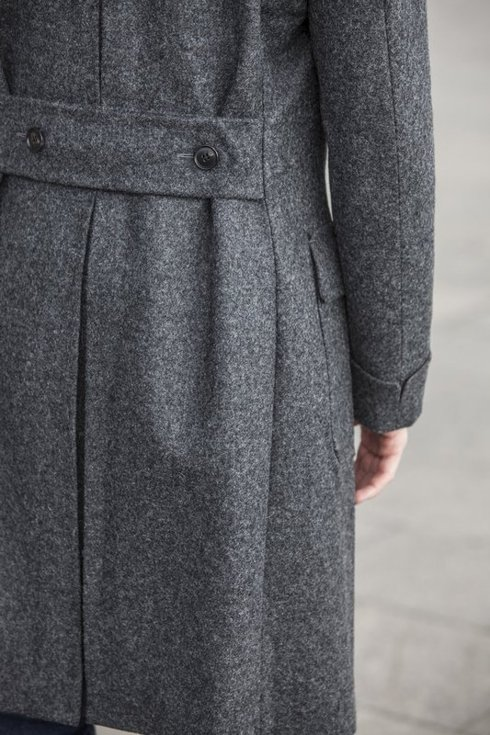 grey tweed coat ulster 'Charles'