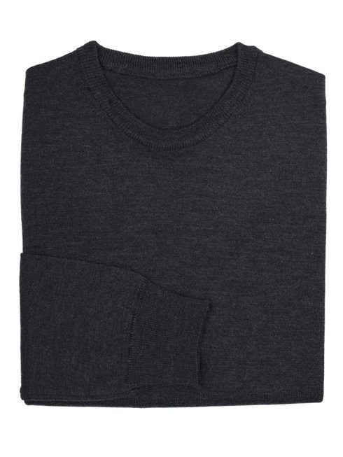light merino wool sweater anthracite