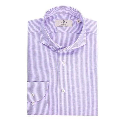 lilac linen&cotton bengal shirt