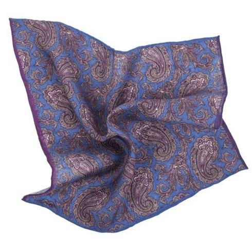 linen paisley pocket square