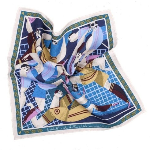 pocket square 'Football is the ballet for the masses'
