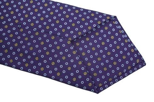 purple Macclesfield tie