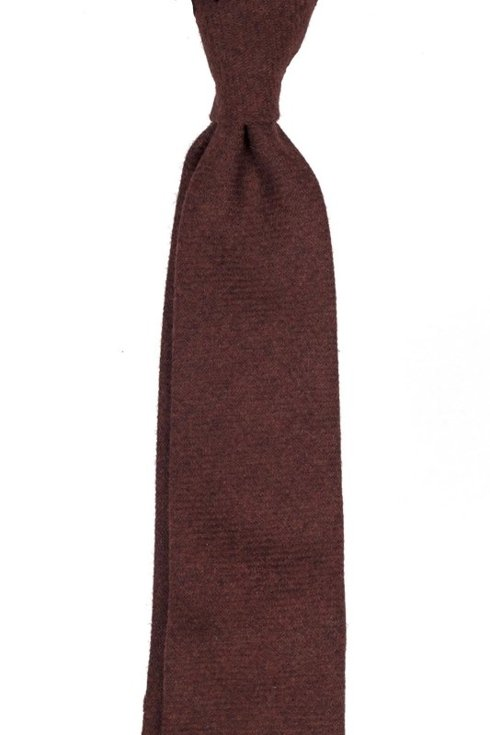 rusty lambswool UNTIPPED TIE