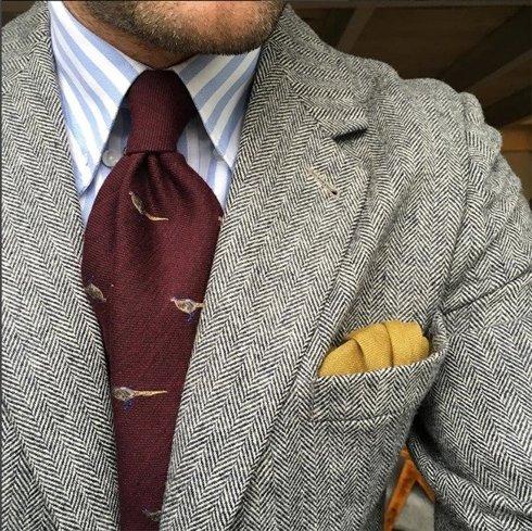 silk tie pheasant