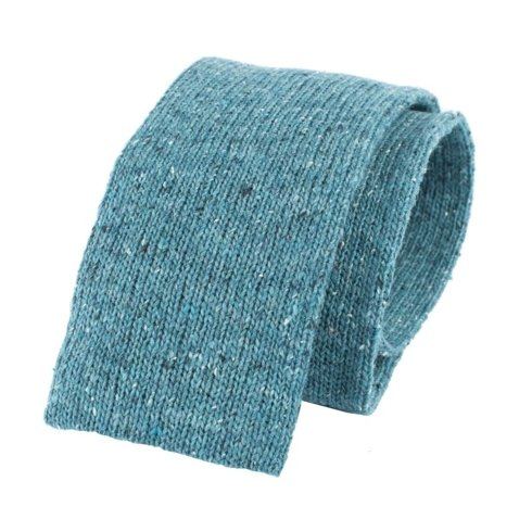 turquoise knit tie