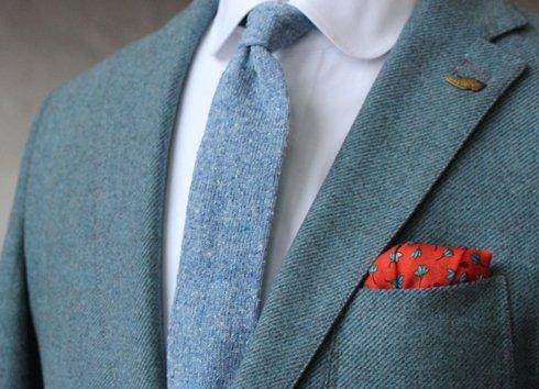 wool & silk pocket square