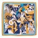 silk pocket square zodiac Gemini / Twins