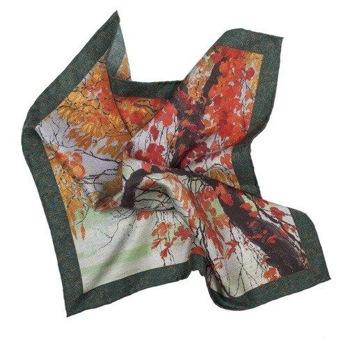 Apaszka jedwabna 100 cm Jesienne Liście Edward Okuń