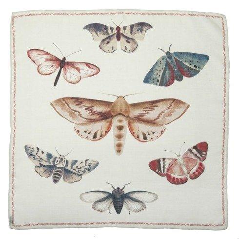 """Apaszka """"motyle i ćmy"""" z wełny z jedwabiem 65 cm"""