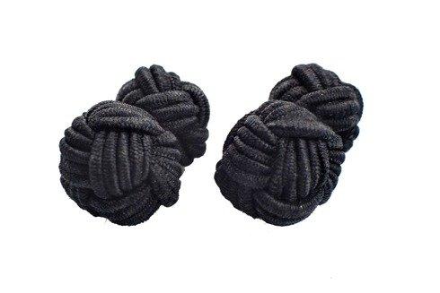 Czarne spinki jedwabne