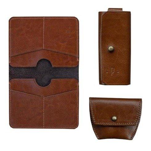 Koniakowy Zestaw Pocket Wallet + bilonówka + etui na klucze