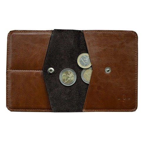 Koniakowy portfel z bilonówką
