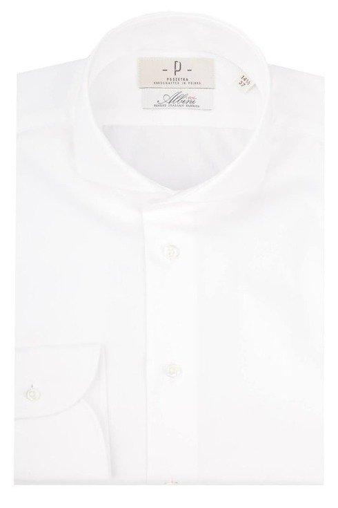 Koszula biała szeroki twill Albini