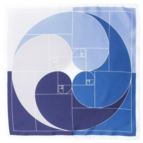 Poszetka Jedwabna spirala Fibonacciego