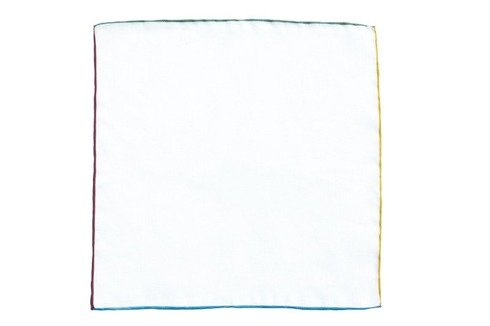 Poszetka z kolorowym brzegiem
