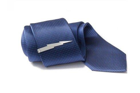 Srebrna Spinka do krawata PIORUN