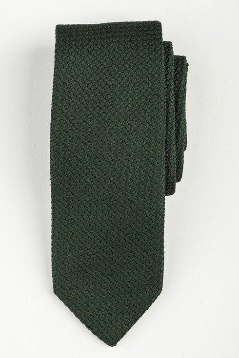 Zielony KRAWAT z grenadyny (garza grossa)