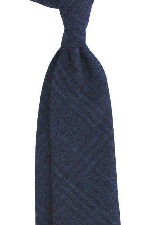 kaszmirowy granatowy krawat bez podszewki