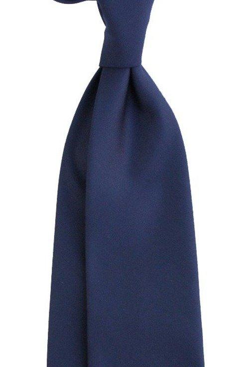 wełniany granatowy krawat bez podszewki