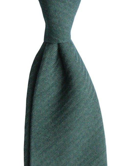 wełniany krawat bez podszewki