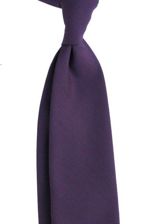wełniany śliwkowy Krawat bez podszewki